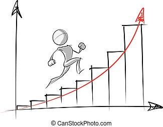 exponential, persone, semplice, -, grafico, crescita