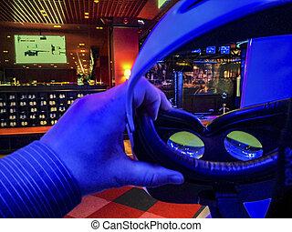 exponeringsglas 3d, s, in, cinema.