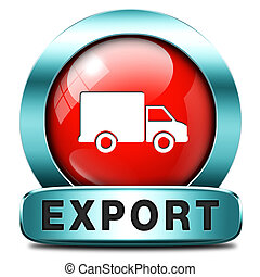 export icon international trade logistics freight ...
