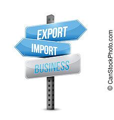 export import business sign illustration design