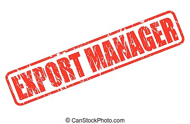 Export Manager red stamp text