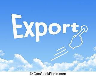 export message cloud shape