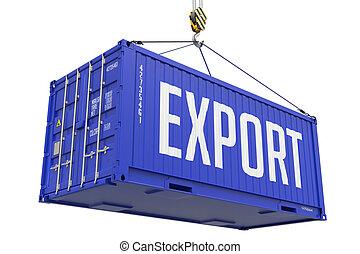 Export - Purple Hanging Cargo Container.