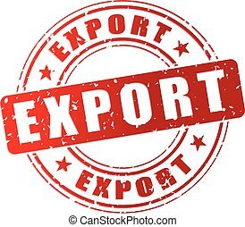 export red stamp - illustration of red stamp icon for export