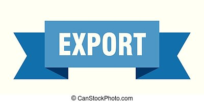 export ribbon. export isolated sign. export banner