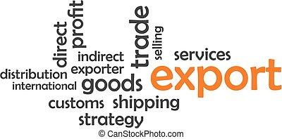 export, -, wolk, woord