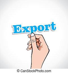 Export Word In Hand