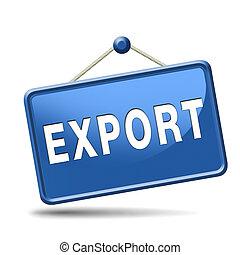 exportación, botón