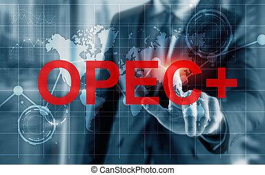 exporterande, countries., opec, organisation, petroleum, concept.