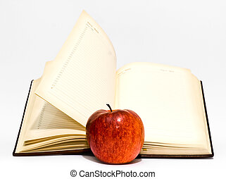 exposed book on a white background