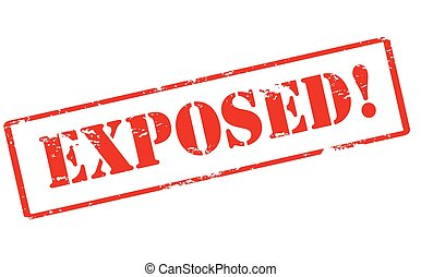 Exposed - Rubber stamp with word exposed inside, vector...