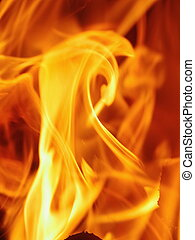 Exposed fire blazes - Close-up of fire background