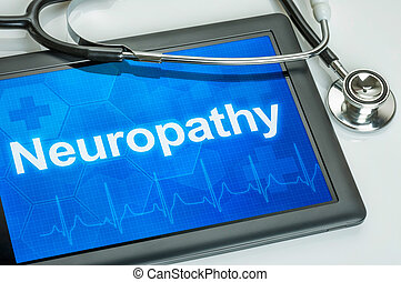 exposer, diagnostic, tablette, neuropathy