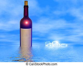 exposição, vinho tinto