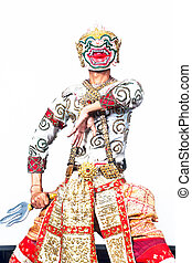 """exposición, tailandés, cultural, """"khon-thai"""", hanuman"""