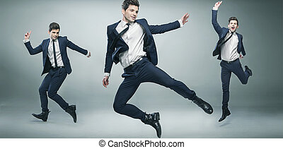 Exposition picture of young businessman - Multiexposition...