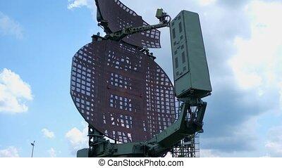 exposition, radar, station, vieux, militaire, plein air