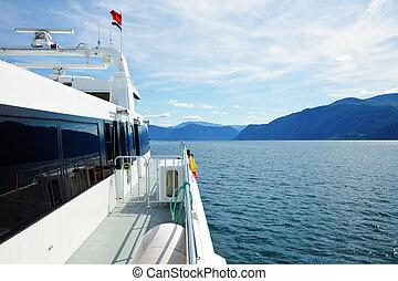 exprès, norvège, bateau