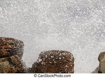 Expresión de movimiento - Agua y piedras - Playa Valdéz...