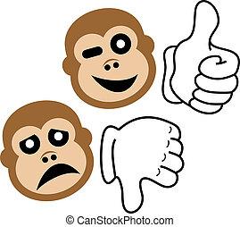expressão, macaco