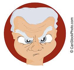 expressões, icon:, zangado