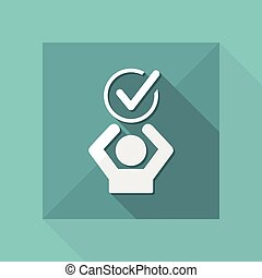 Express agreement - Vector web icon