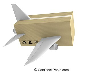 Express airmail delivery and global shipping concept.