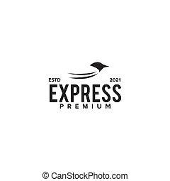Express bird logo design template