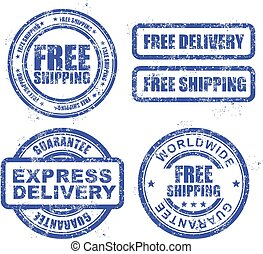 Express delivery and shipping stamp