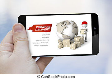 express delivery cell phone - communications and marketing...
