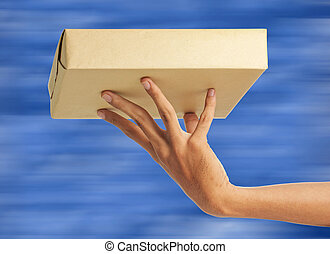 express delivery - Express package delivery with blue ...