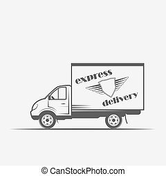 express delivery, freight car