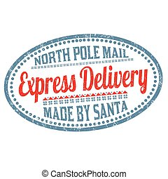 Express delivery grunge rubber stamp