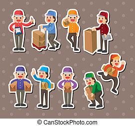 Express delivery people stickers