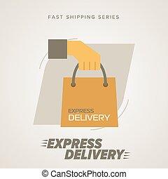 Express Delivery Symbols. Vector illustration. - Express...