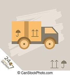 Express Delivery Symbols. Vector illustration.