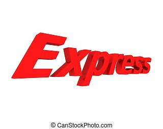 express - 3d rendered illustration of a red express sign