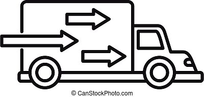 Express free delivery icon, outline style