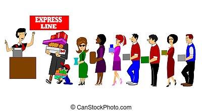 express line checkout madness - express line