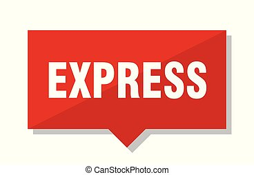 express red tag - express red square price tag