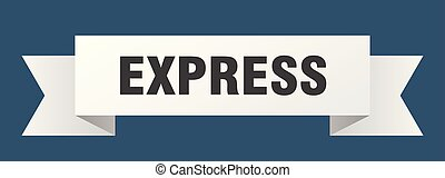 express ribbon. express isolated sign. express banner