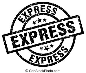 express round grunge black stamp