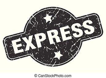 express round grunge isolated stamp