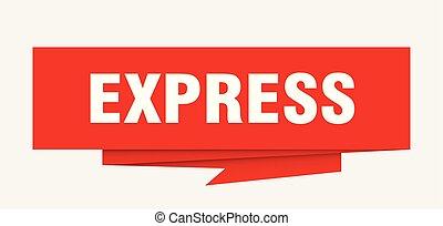 express sign. express paper origami speech bubble. express...