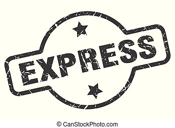 express sign - express vintage round isolated stamp