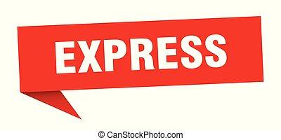express speech bubble. express sign. express banner
