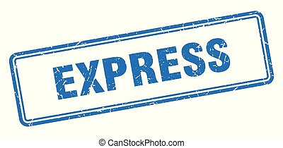 express stamp. express square grunge sign. express