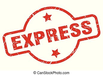 express stamp isolated on white