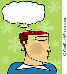 Express Thoughts - Man\\\'s mind is open (literally) and a...