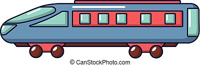 Express train icon, cartoon style
